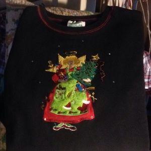 The Quacker factory ugly sweater sweatshirt large